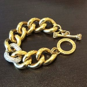 """Juicy Couture 8"""" thick chain link Bracelet"""